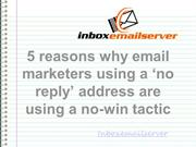 5 reasons why email marketers using a 'no reply' address are using a n