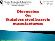 Stainless Steel Barrel Manufacturer
