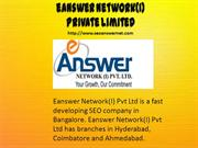 E ANSWER NETWORK INDIA PVT LTD BANGALORE