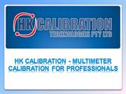 HK Calibration - Multimeter Calibration for Professionals