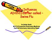 New Influenza A(H1N1):Earlier calledswin