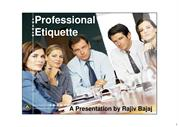 Professional Etiquette at the Workplace