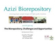 The Biorepository at ILRI: Challenges and Opportunities