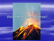 Welcome to Earth Science!!