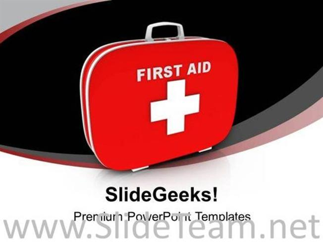 First Aid And Safety Box Powerpoint Template Powerpoint Template