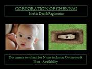 Birth & Death - Corporation of chennai