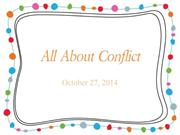 All About Conflict