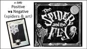 Spiders - positive and negative space