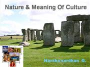 nature and meaning of culture