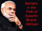 Barriers in the path of Swach Bharat Abhiyaan