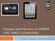 Synapse India Reviews on MOBILE AND TABLET COMPUTING