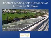 Contact Leading Solar Installers of Arizona to Go Solar