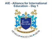 AIE - Alliance for International Education - 10 Oct 2014