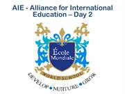 AIE - Alliance for International Education - 11 Oct 2014