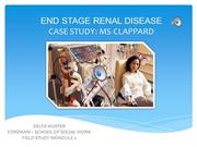 Case Study - End Stage Renal Disease