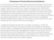 The Importance of Travel and Tourism by Carl Ruderman