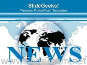 WATCH GLOBAL NEWS FOR CURRENT KNOWLEDGE POWERPOINT TEMPLATE