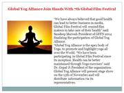 Global Yog Alliance Join Hands With 7th Global Film Festival