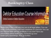 Bankruptcy Class