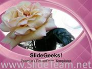 WHITE ROSE IS SYMBOL OF PEACE POWERPOINT TEMPLATE