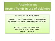 Polymer science ppt