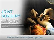 Center for joint surgery in Delhi