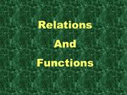 Relations and Functionss