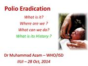 Polio Eradication Campaign