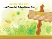 OuOutdoor LED Signs Kansas City - Why to Choose