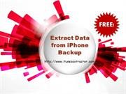 Extract data from iPhone backup free