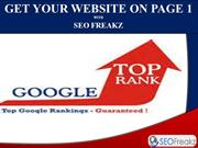 Get your website on page 1