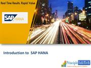 sap hana|sap hana databasee| introduction to saphana
