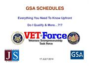 GSA Schedules - Do I Qualify?  Jennifer Schaus