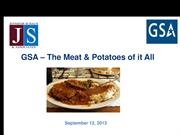 GSA Schedules - The Meat and Potatoes of It All