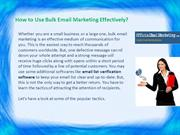 How to Use Bulk Email Marketing Effectively