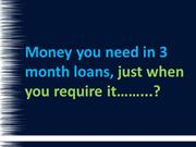 3 Month Loans - No Fee Bad Credit Loans