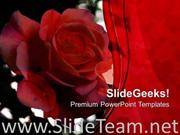 RED ROSE IS A SYMBOL OF LOVE POWERPOINT TEMPLATE