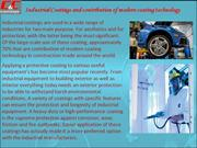 Industrial Coatings and contribution of modern coating technology