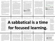 What I learned on my Sabbatical