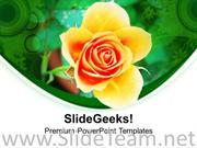 YELLOW ROSE IS SYMBOL OF FRIENDSHIP POWERPOINT TEMPLATE
