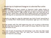 Simple tips to Implement Instagram to advertise Your