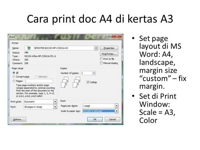 2014 09 15 Cara Print Doc A4 Di Kertas A3 Authorstream