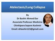 Atelectasis Lung Collapse Part-1 by Dr Bashir Ahmed Dar sopore kashmir