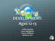 Child Development (ages 12-13)