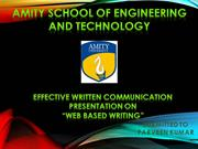 Effective Written Communication - Web Based Writing
