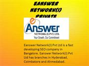 E ANSWER NETWORK | EANSWER NETWORK INDIA PVT LTD