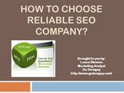 how to choose reliable seo company