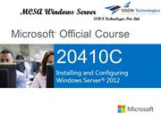MCSA Certification 410
