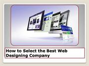 How Useful Tips to Select the Best Web Designing Company