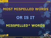 Effective Written Communication - Spellings